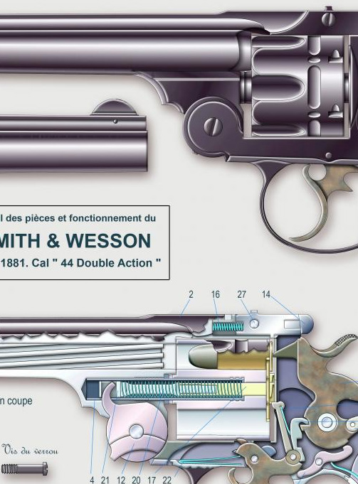 24   SMITH WESSON Mod 1881 Cal 44 Double Action   3